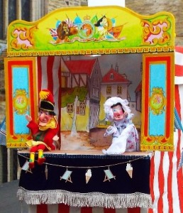 Punch & Judy at Day at the Seaside by Linda Hogg.