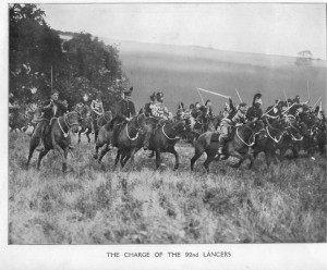 Still from the 1913 film titled 'Charge'