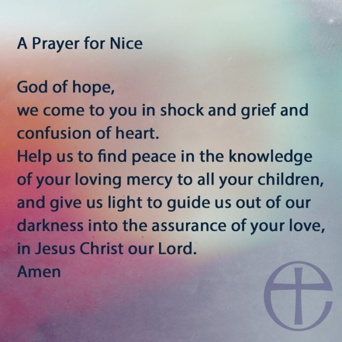 C of E releases a prayer for Nice