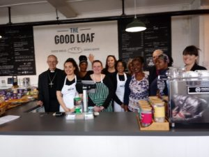 The team at The Good Loaf with the Archbishop