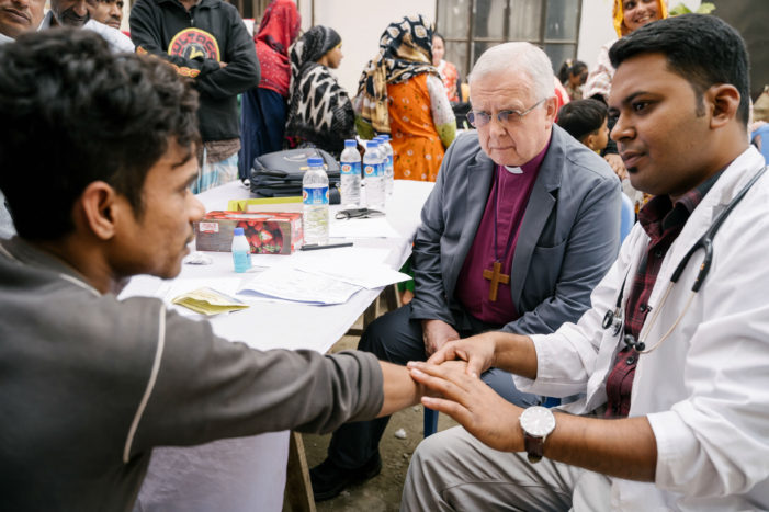 "The Bishop of Peterborough asks church leaders in Dhaka to ""finish what Jesus started"" and end leprosy"