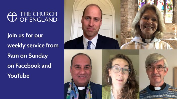 Duke of Cambridge joins CofE's online service to mark the end of Mental Health Awareness Week